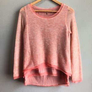 Anthro Knitted & Knotted layered sweater XS.